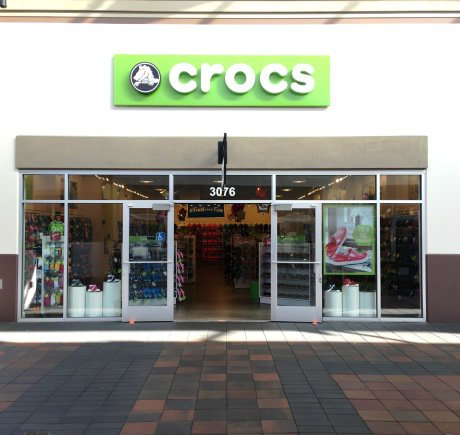 Crocs storefront. Your local Shoe Store in Dublin, CA.
