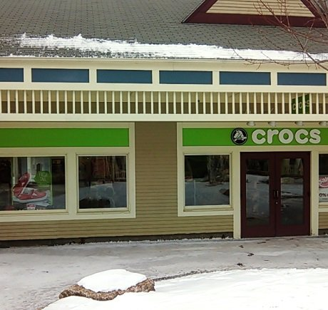 Crocs storefront. Your local Shoe Store in North Conway, NH.