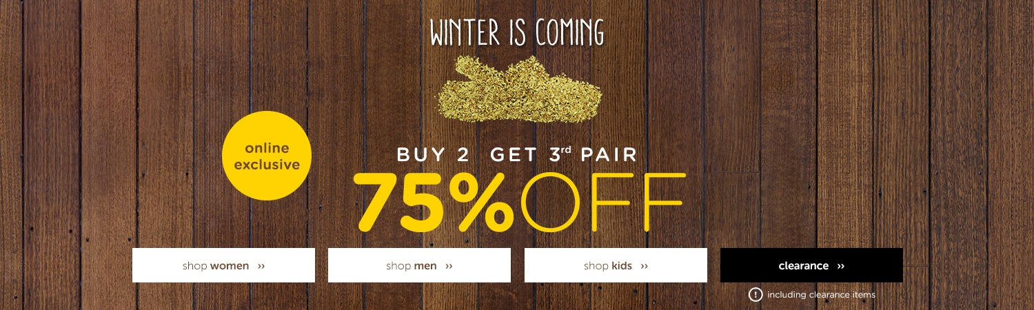 Buy 2, get 1 - save 75% off men's, women's and kis' shoes clearance sale at Crocs Australia.