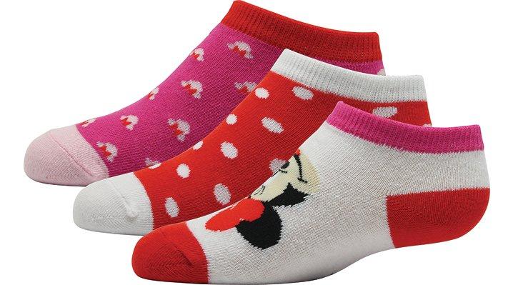 Non Brand Active Orange / Petal Pink Crocs Disney™ Minnie Mouse™ Socks 3-Pack Shoes