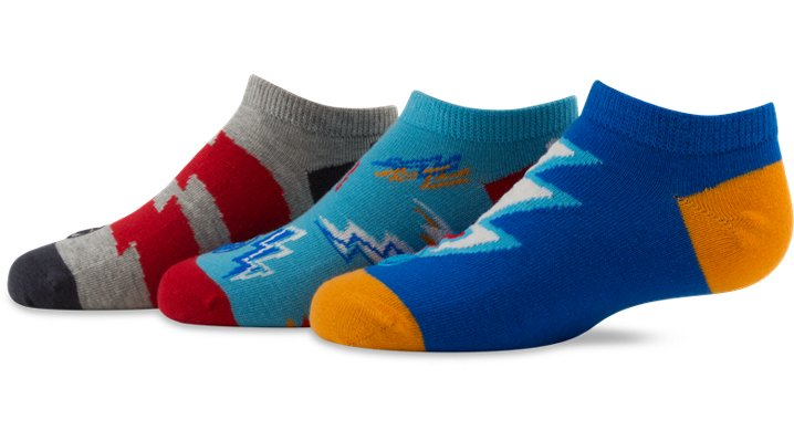 Crocs Aegean Blue Boys' No-Show Bolt Socks Shoes $ 4.99