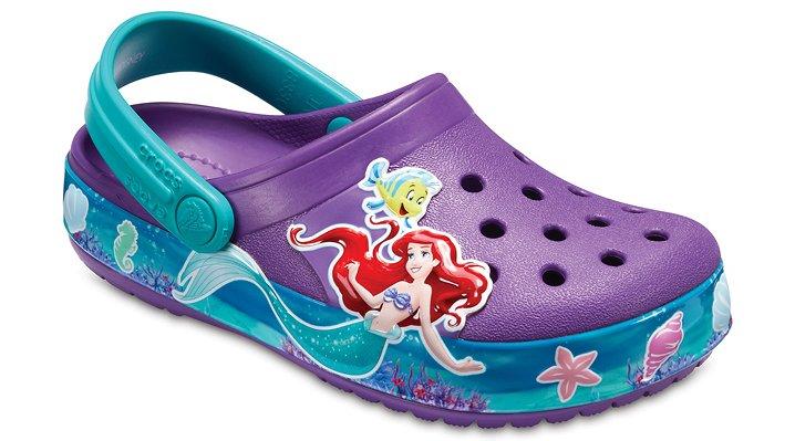 Crocs Amethyst Kids' Crocband™ Princess Ariel™ Clogs Shoes