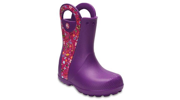 Crocs Amethyst Kids' Handle It Graphic Boot Shoes