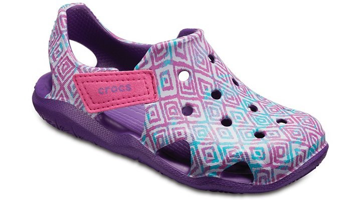 Crocs Amethyst Kids' Swiftwater Wave Graphic Shoes