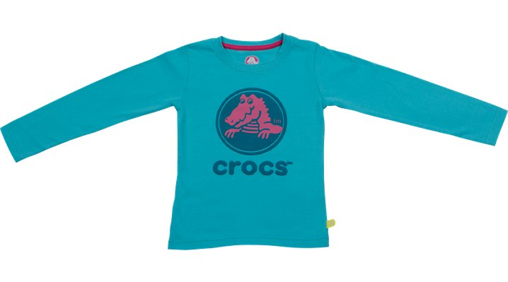 Crocs Aqua / Aqua Crocs Girls' Long-Sleeve Tee Shoes