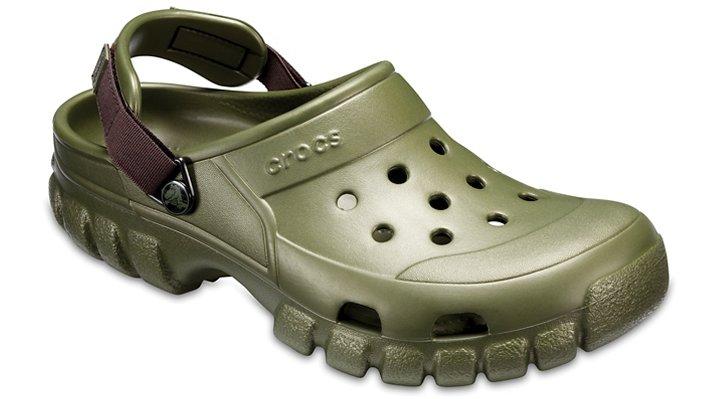 Crocs Army Green/Espresso Offroad Sport Clog Shoes 20265132C