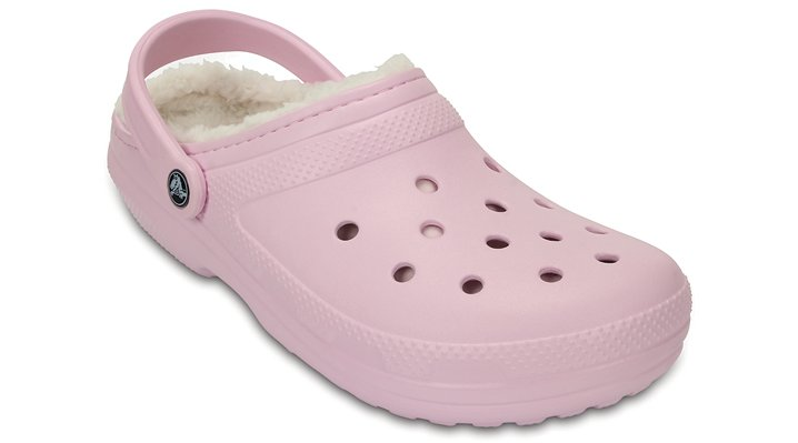 Crocs Ballerina Pink / Oatmeal Classic Fuzz Lined Clog Shoes