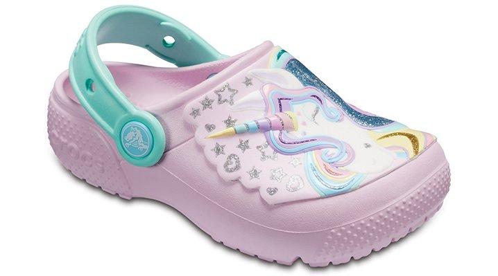 Crocs Ballerina Pink/New Mint Kids' Crocs Fun Lab Clogs Shoes