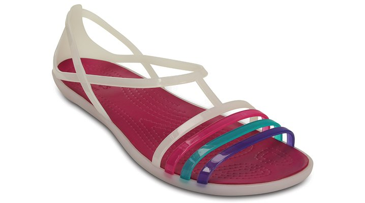 Crocs Berry / Oyster Women'S Crocs Isabella Sandal Shoes