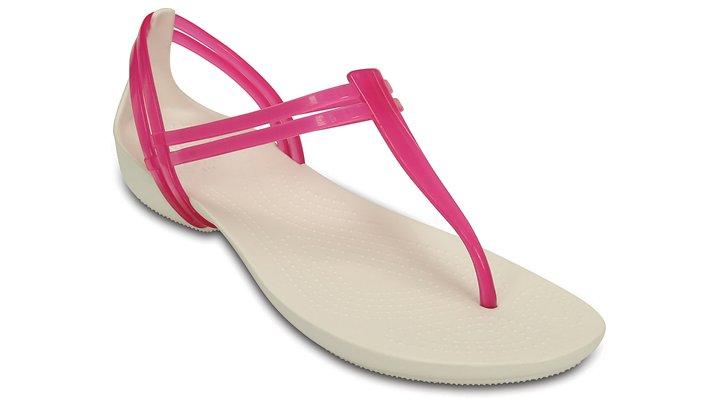 Crocs Berry / Oyster Women'S Crocs Isabella T-Strap Sandal Shoes