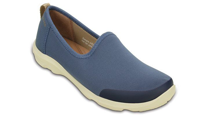 Crocs Bijou Blue / Stucco Women'S Busy Day Stretch Skimmer Shoes