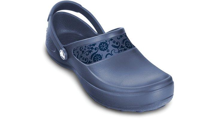 e198799f34fe Crocs Bijou Blue   Navy Mercy Work Woman s Comfortable Work Shoes ...