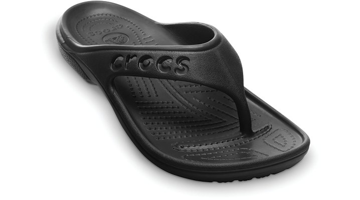 Crocs Black Baya Flip Shoes