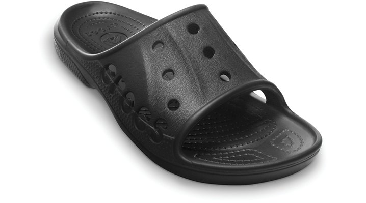 Crocs Black Baya Slide Shoes