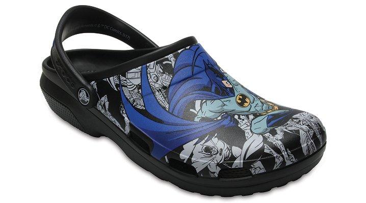 Crocs Black Classic Batman™ Clog Shoes