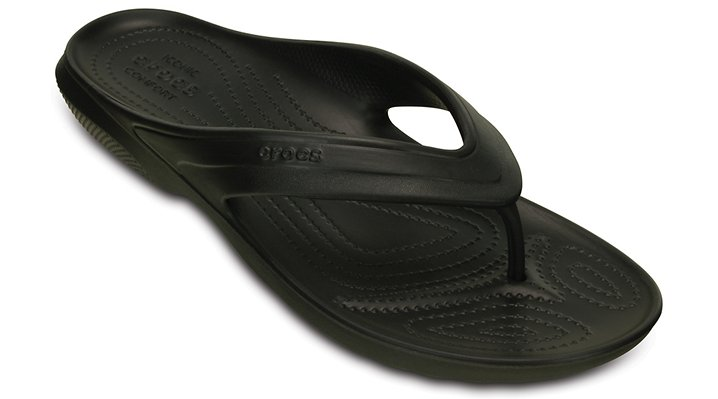 Crocs Black Classic Flip Shoes