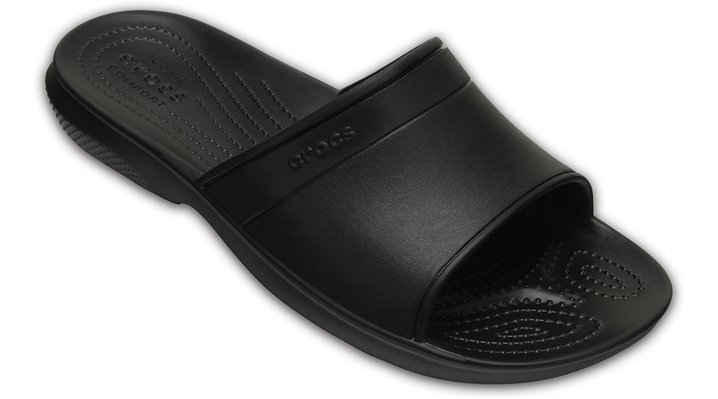 Crocs Black Classic Slide Shoes