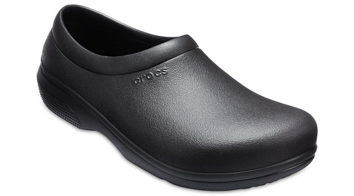 Crocs Pfd Black Crocs On-The-Clock Work Slip-Ons Shoes