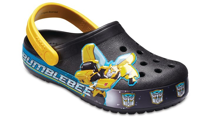 Crocs Black Kids' Crocband™ Bumblebee™ Clogs Shoes