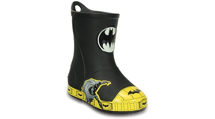 Crocs Black Kids' Crocs Bump It Batman™ Rain Boot Shoes