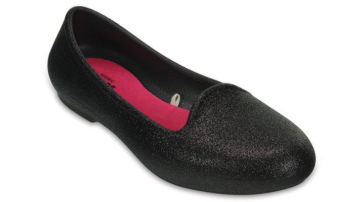Crocs Black Kids' Crocs Eve Sparkle Flat Shoes