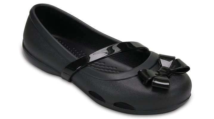 Crocs, Inc. Crocs Black Kids' Crocs Lina Flat Shoes