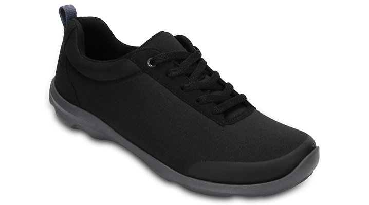 Crocs Black Women's Busy Day Stretch Lace-Up Shoes