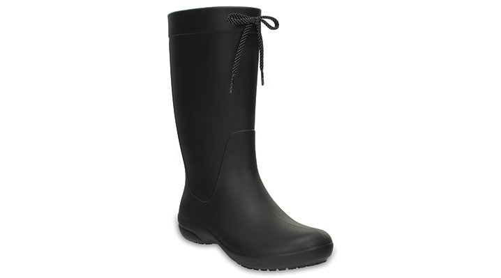 Crocs Black Women's Crocs Freesail Rain Boot Shoes