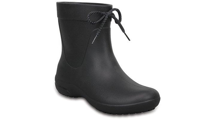Crocs Black Women's Crocs Freesail Shorty Rain Boots Shoes