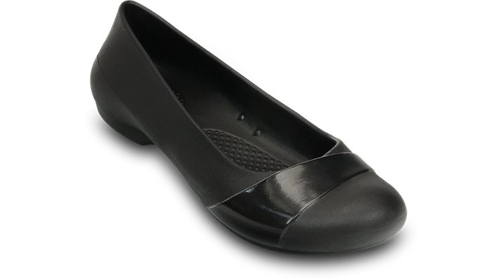 Crocs Black Women'S Crocs Gianna Flat Shoes
