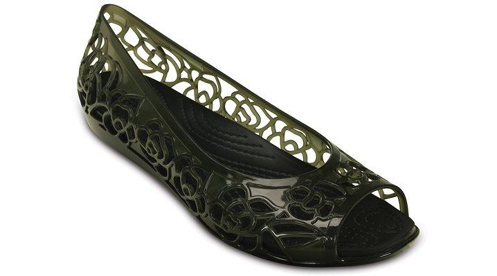 Crocs Black Women'S Crocs Isabella Jelly Flat Shoes