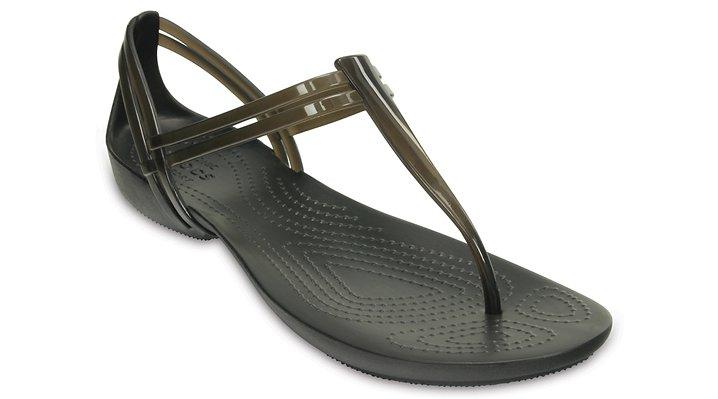 Crocs Black Women'S Crocs Isabella T-Strap Sandal Shoes