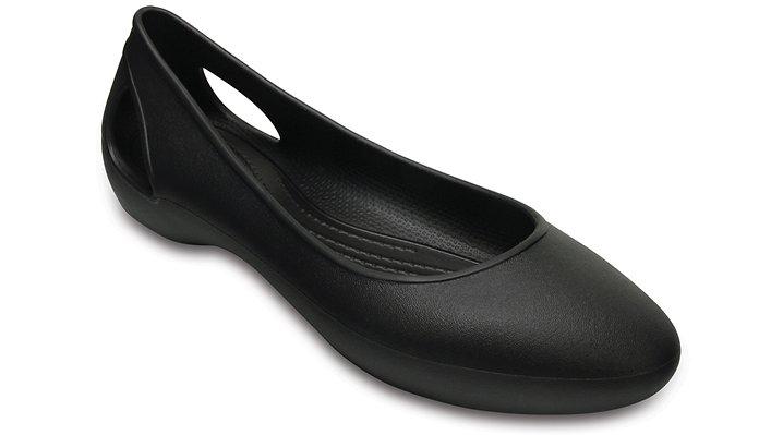 Crocs Black Women's Crocs Laura Flats Shoes