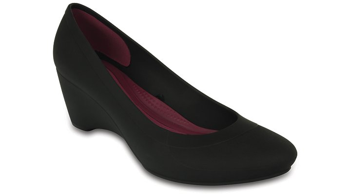 Crocs Black Women'S Crocs Lina Wedge Shoes