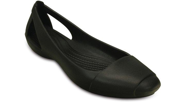Crocs Black Women'S Crocs Sienna Flat Shoes