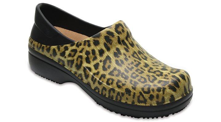 Crocs Pfd Black Women's Neria Pro Graphic Clog Shoes