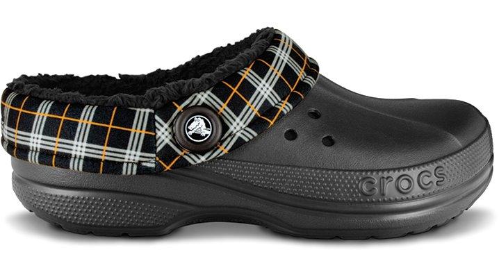 Crocs Black / Black Blitzen Winter Plaid Shoes