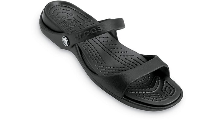 Crocs Black / Black Cleo Woman's Comfortable Sandals