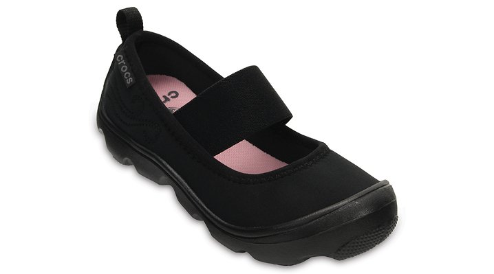 Crocs Black / Black Girls' Duet Busy Day Mary Jane (Children'S) Shoes