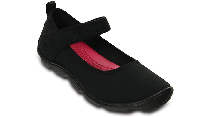 Crocs Black / Black Girls' Duet Busy Day Mary Jane (Juniors') Shoes