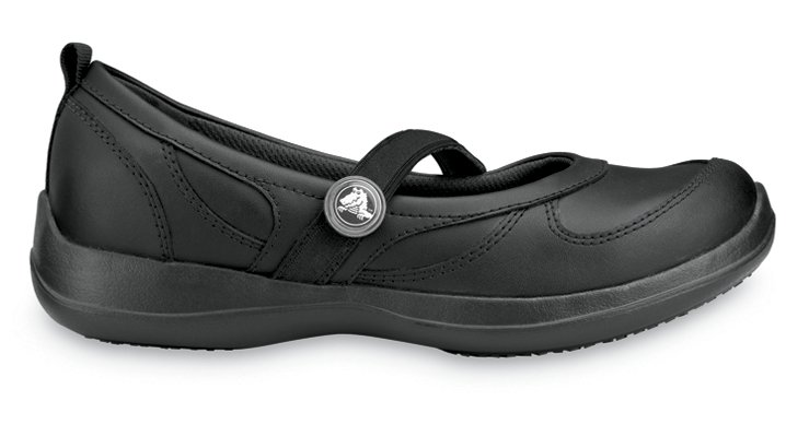 Crocs Black / Black Juniper Woman's Comfortable Work Shoes