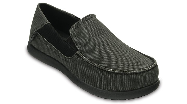 Crocs Black / Black Kids' Santa Cruz Ii Loafers Shoes