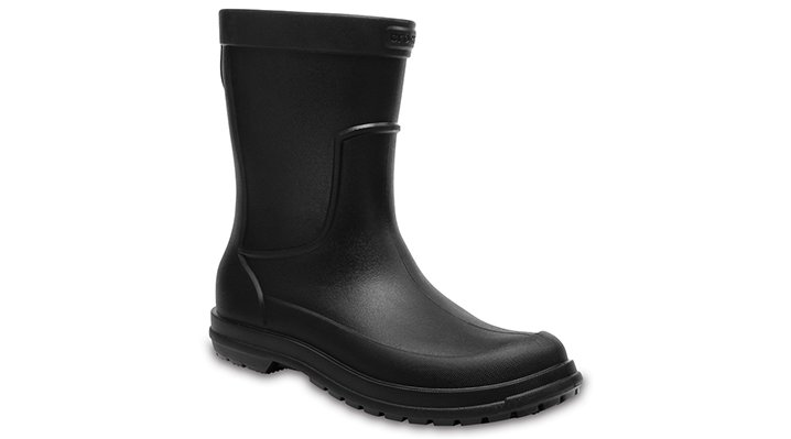 Crocs Black / Black Men's Allcast Rain Boot Shoes