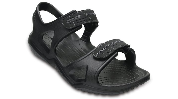 Crocs Black / Black Men's Swiftwater River Sandals Shoes
