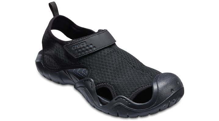 Crocs Black / Black Men'S Swiftwater Sandal Shoes