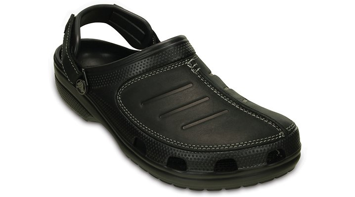 Crocs Black / Black Men's Yukon Mesa Clog Shoes