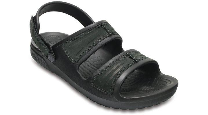Crocs Black / Black Men's Yukon Mesa Sandals Shoes