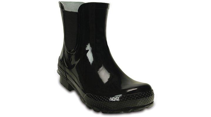 10 Black / Black Women'S Crocs Chelsea Rain Boot Shoes