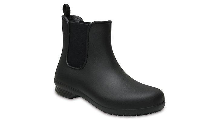 Crocs Black / Black Women's Crocs Freesail Chelsea Boot Shoes