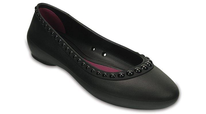Crocs Black / Black Women's Crocs Lina Luxe Flat Shoes